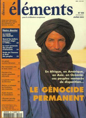Le génocide permanent : la mort des peuples ?