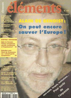 Alain de Benoist : On peut encore sauver l'Europe