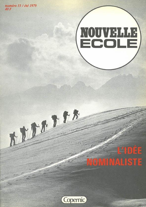 Couverture Noouvelle école N°33