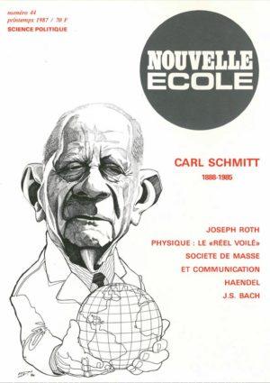 Couverture Nouvelle école 44 Carl Schmitt