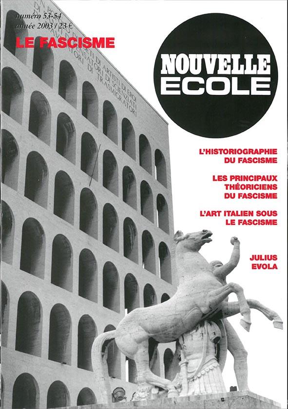 Couverture Nouvelle école 53-54 Le Fascisme